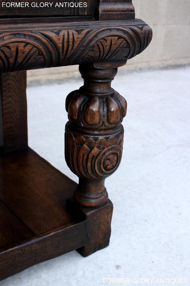 Image 64 of A TITCHMARSH AND GOODWIN CARVED OAK SIDEBOARD DRESSER BASE