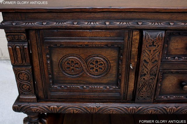 Image 65 of A TITCHMARSH AND GOODWIN CARVED OAK SIDEBOARD DRESSER BASE