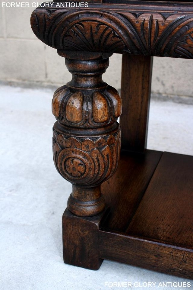Image 72 of A TITCHMARSH AND GOODWIN CARVED OAK SIDEBOARD DRESSER BASE