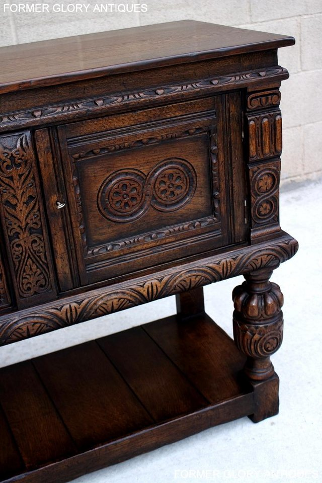 Image 73 of A TITCHMARSH AND GOODWIN CARVED OAK SIDEBOARD DRESSER BASE