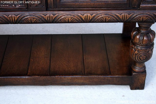 Image 91 of A TITCHMARSH AND GOODWIN CARVED OAK SIDEBOARD DRESSER BASE