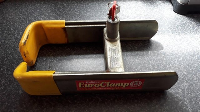Image 2 of wheel clamp and hitch lock,