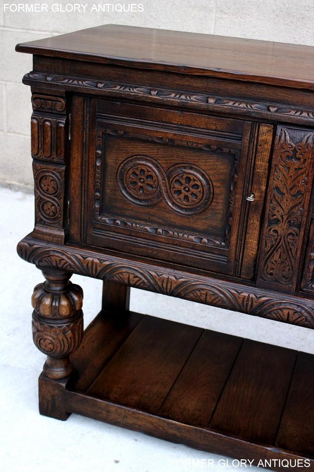Image 102 of A TITCHMARSH AND GOODWIN CARVED OAK SIDEBOARD DRESSER BASE