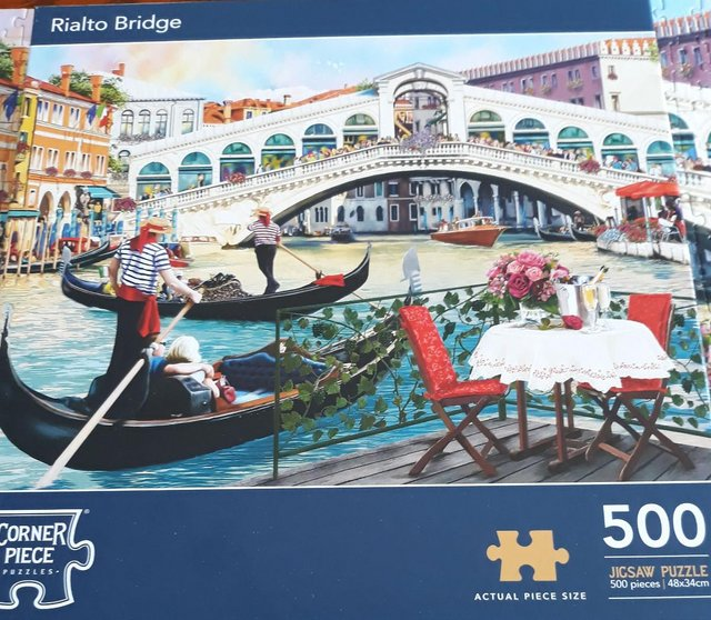 Preview of the first image of 500 Piece Jigsaw Puzzle Rialto Bridge.