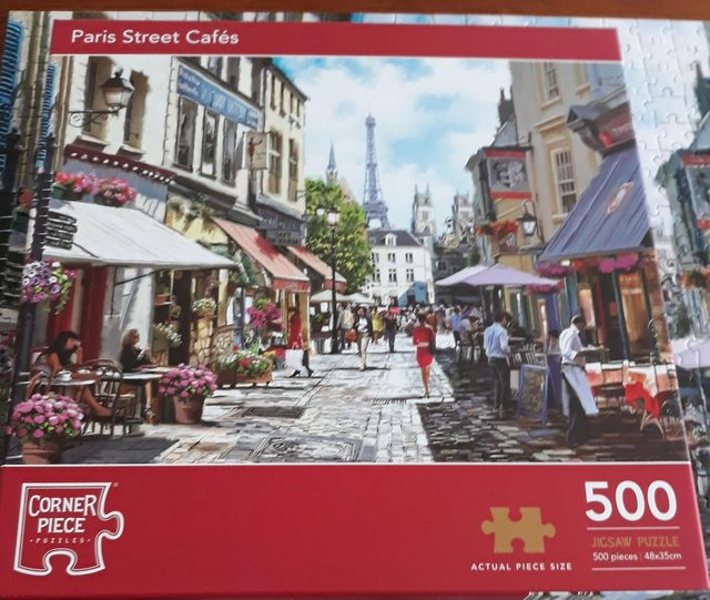 Preview of the first image of 500 Piece Jigsaw Puzzle Paris Street Cafe.