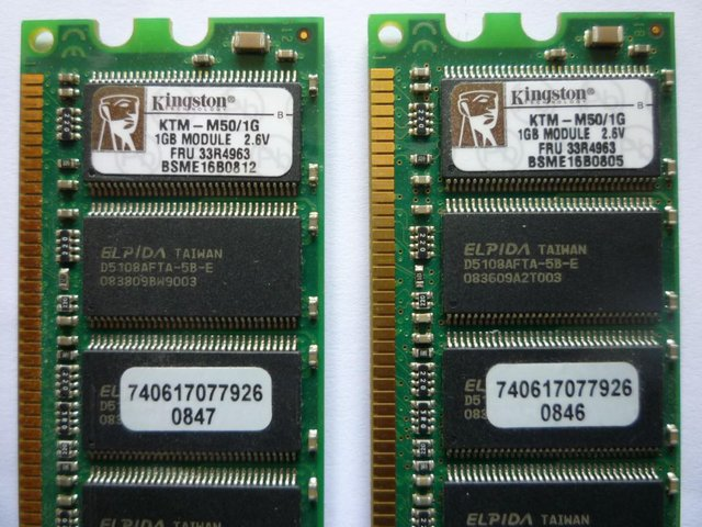 Image 2 of DDR RAM - 1 x 512MB, 2 x 1GB - Free to Collect or £1 UK p&p