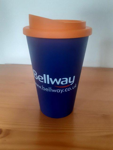 Preview of the first image of As New Reusable Insulated Coffee Cup with Screw On Lid.