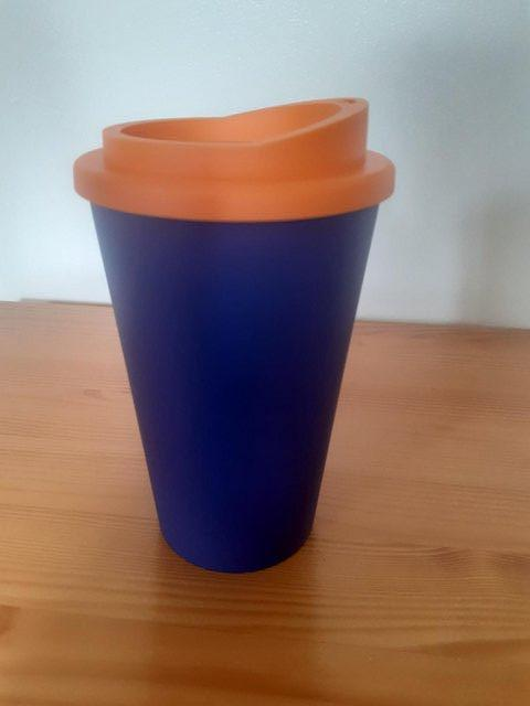 Image 2 of As New Reusable Insulated Coffee Cup with Screw On Lid