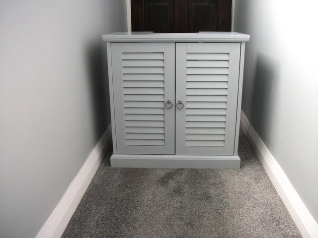 Preview of the first image of BRAND NEW HABITAT LE MARAIS LOUVERED UNDER SINK UNIT GREY.