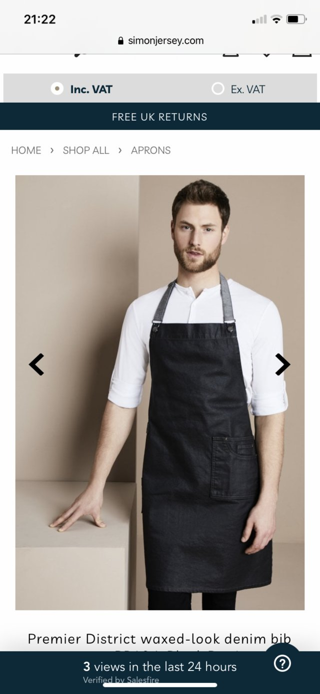 Preview of the first image of Two Denim bib aprons.