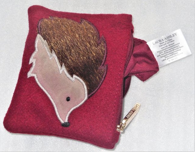 Preview of the first image of LAURA ASHLEY COIN PURSE WITH HEDGEHOG DESIGN.