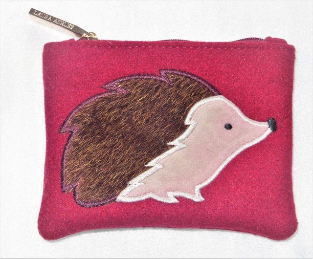 Image 3 of LAURA ASHLEY COIN PURSE WITH HEDGEHOG DESIGN