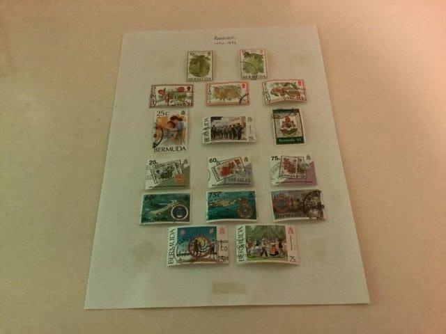 Preview of the first image of Bermuda stamps x 16 from 1994 - 1995 as per photo.