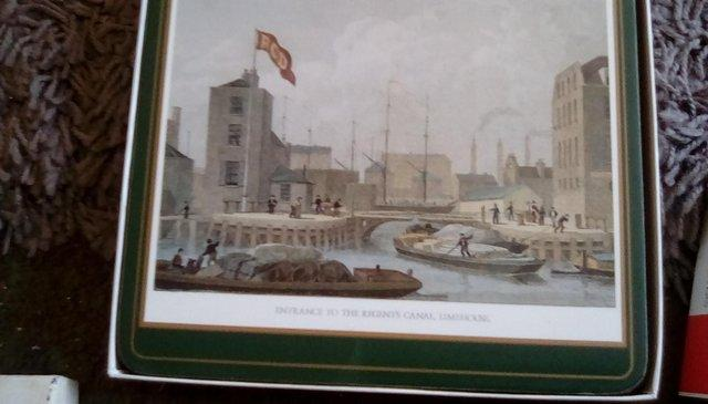 Image 3 of canal place mats x6 & coasters x 5