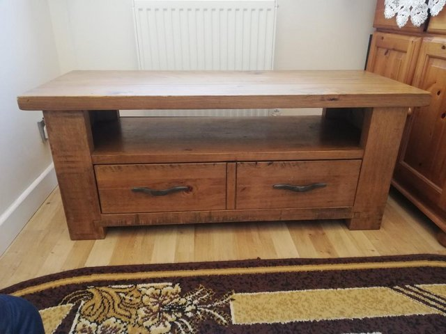 Image 2 of Solid wood tv stand.