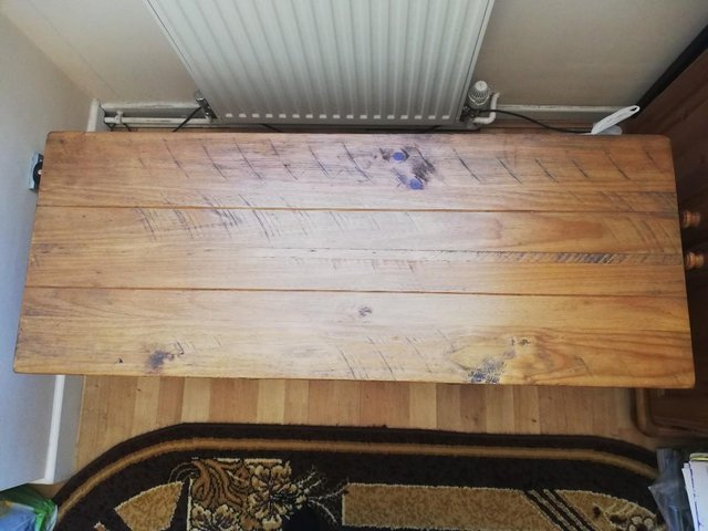 Image 3 of Solid wood tv stand.