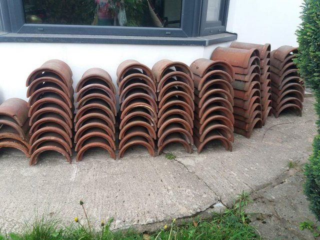 Preview of the first image of FREE DEL  quality half round ridge (wall cappings?) tiles.
