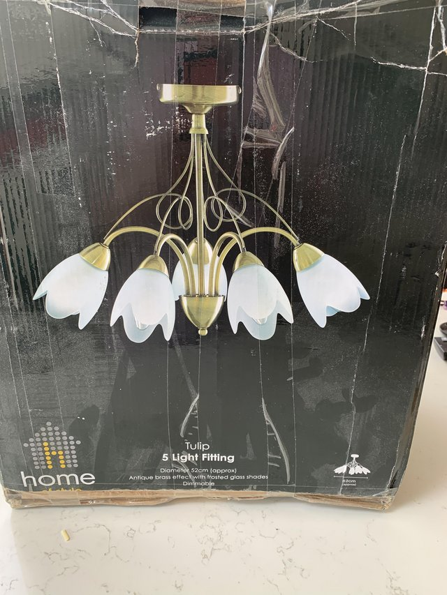 Image 3 of Ceiling light five arms tulip shape