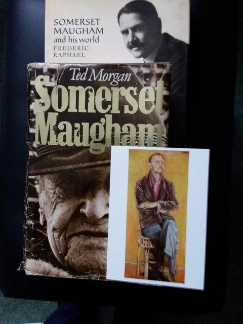 Preview of the first image of Somerset Maugham - Books Collection, Biography + postcard.