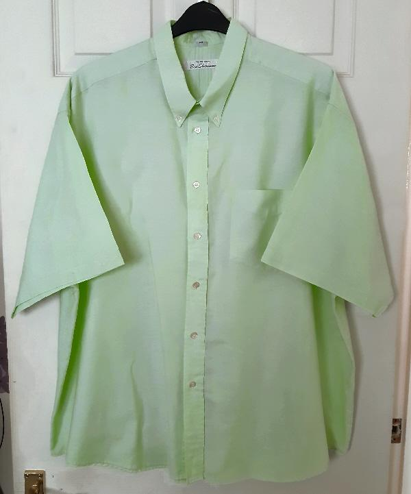 """Preview of the first image of Mens Lime Green Ben Sherman Shirt - 19"""" collar (48)."""