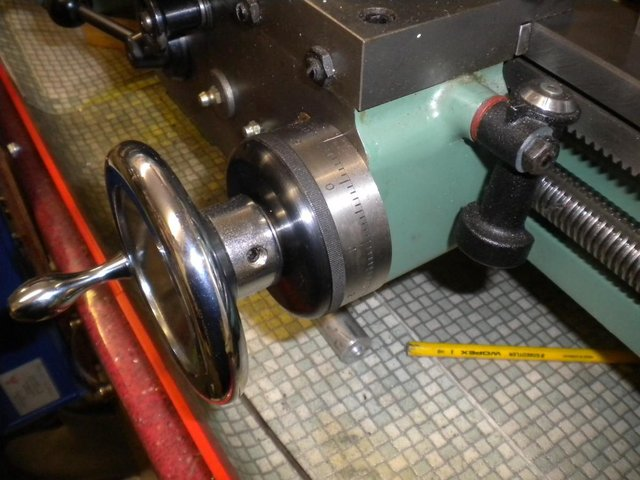 Preview of the first image of Imperial Graduated Saddle Handwheel for Myford Ser. 7 Lathes.