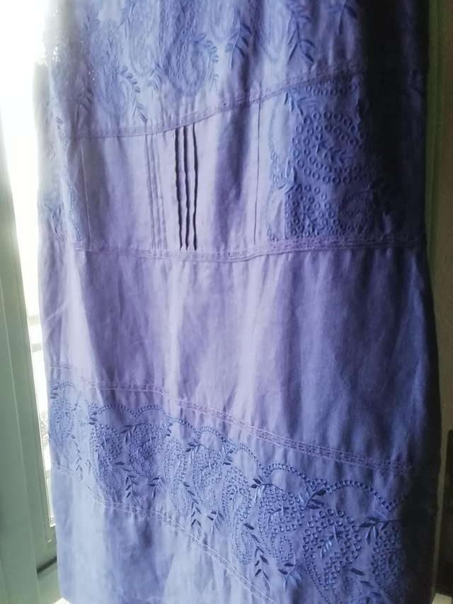 Preview of the first image of Navy Blue Linen Dress.