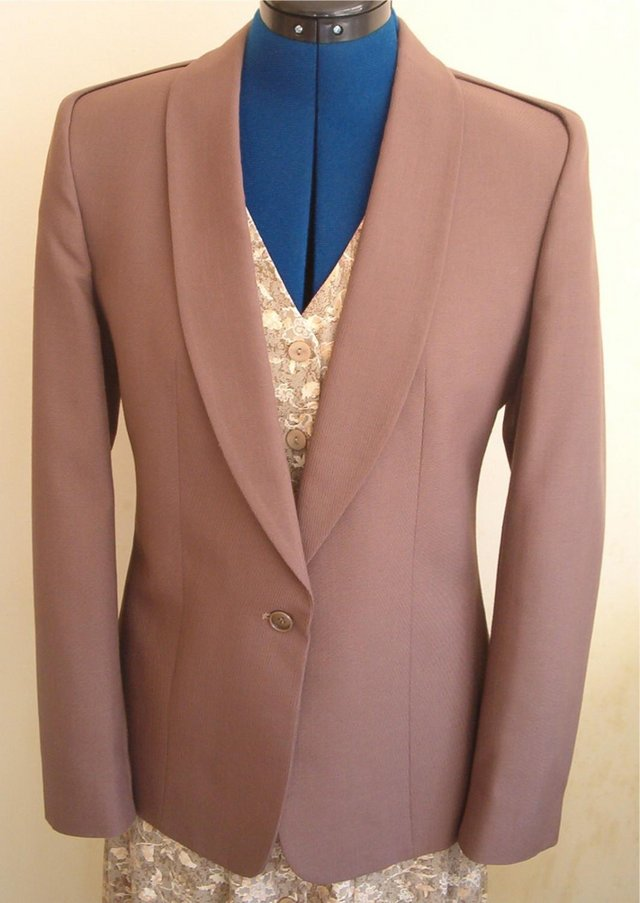 Preview of the first image of Next Jacket – Linen Look – Size 12 – Dark Taupe.