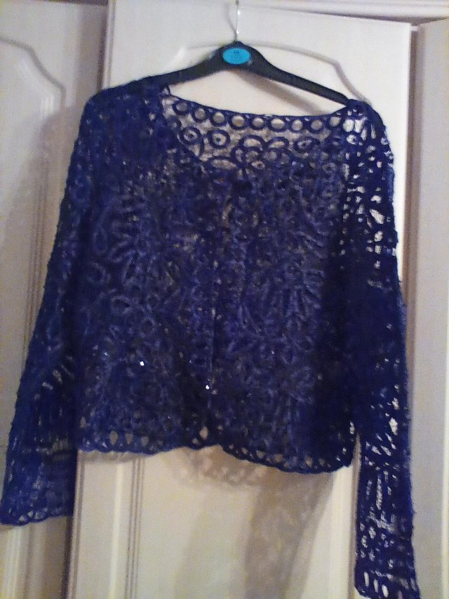 Preview of the first image of ,2 lacy cardigans or jacket size 14 immaculate.
