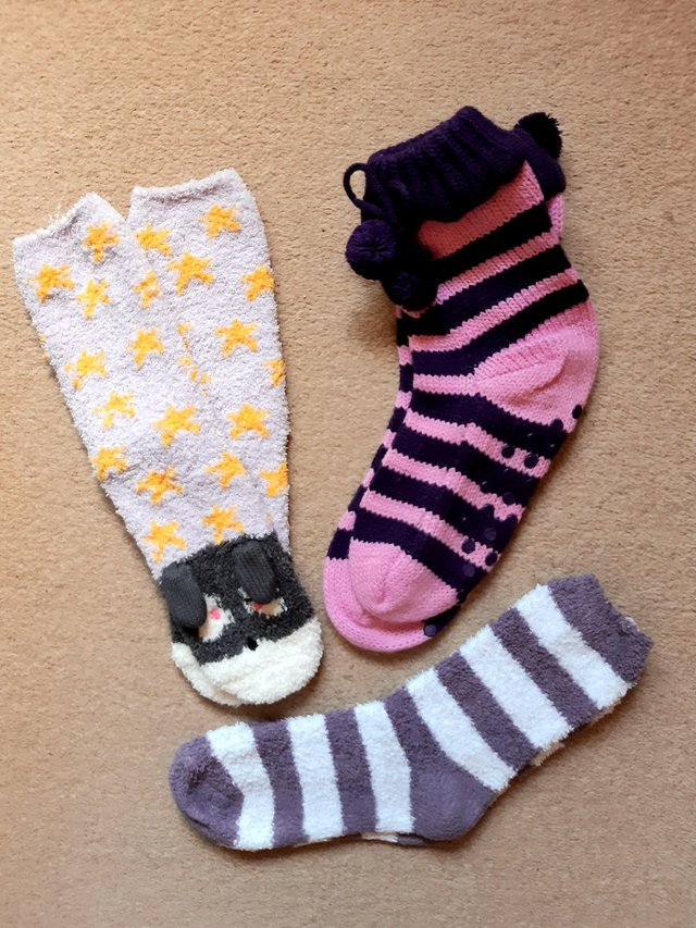 Preview of the first image of Ladies bed socks for sale.