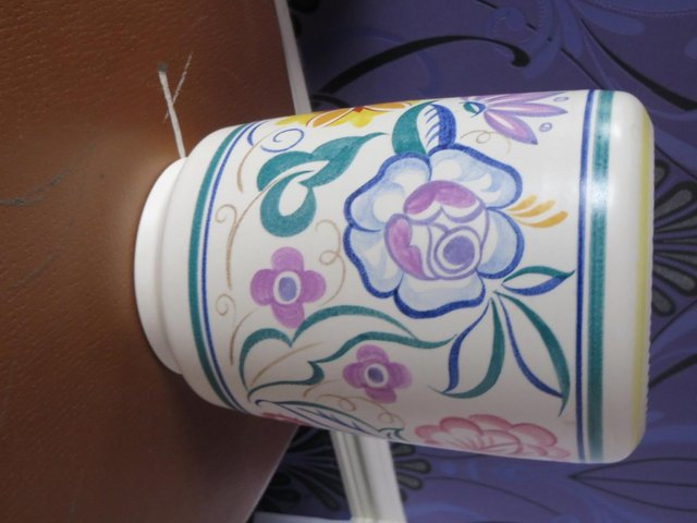 Preview of the first image of vintage poole pottery vases.