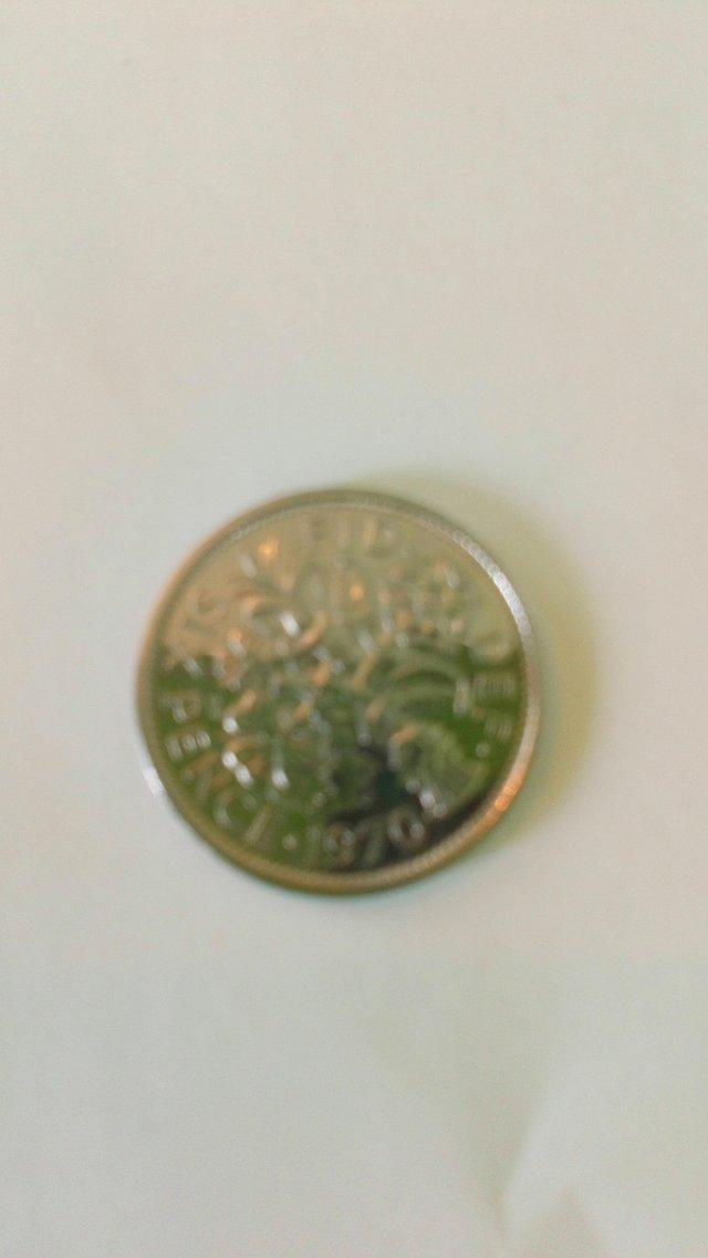 Image 2 of 1970 Sixpence. Uncirculated. Rare.