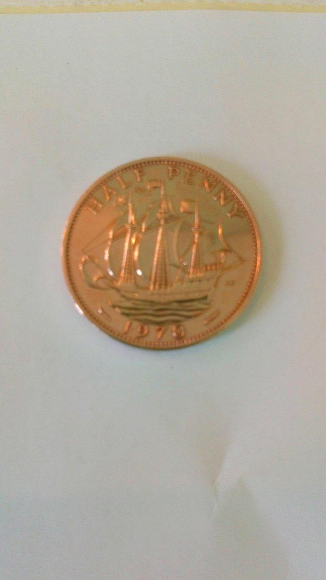 Image 2 of 1970 Half Penny. Uncirculated. Immaculate.