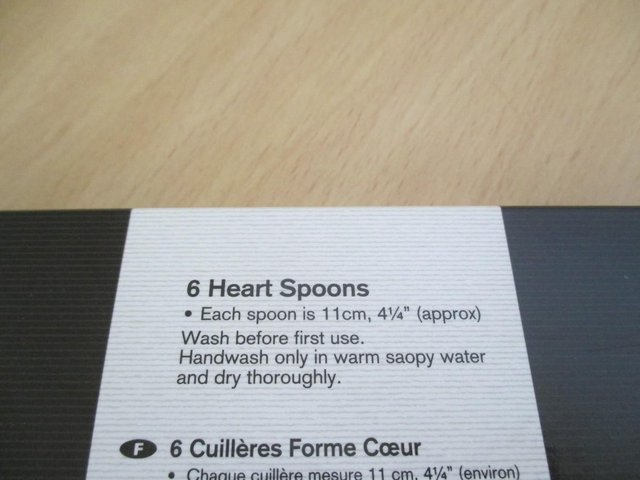 Image 3 of Set of heart spoons. Six very cute, tiny spoons