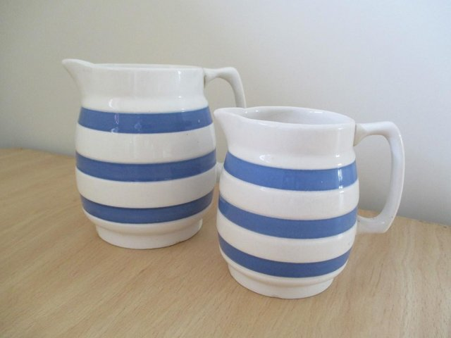Preview of the first image of Pair of vintage milk / cream jugs.