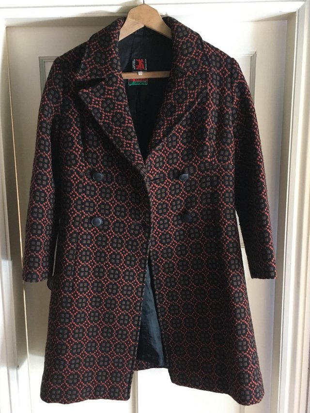 Preview of the first image of 1960s Vintage Welsh Tapestry Coat - Dillad Dwyryd.