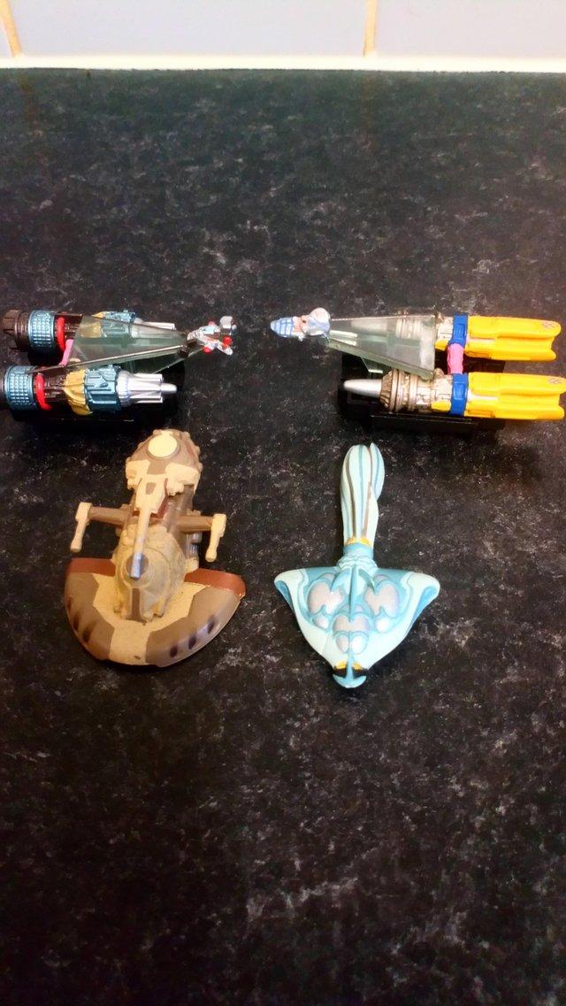 Preview of the first image of 4 Star Wars Pod Racers Various..