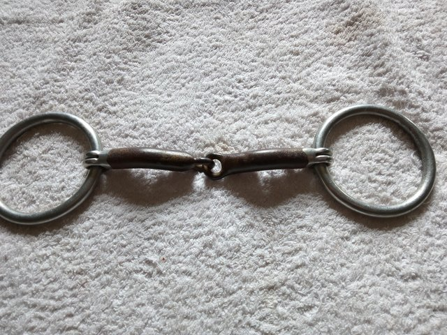 """Preview of the first image of 5 5"""" sweet iron snaffle."""