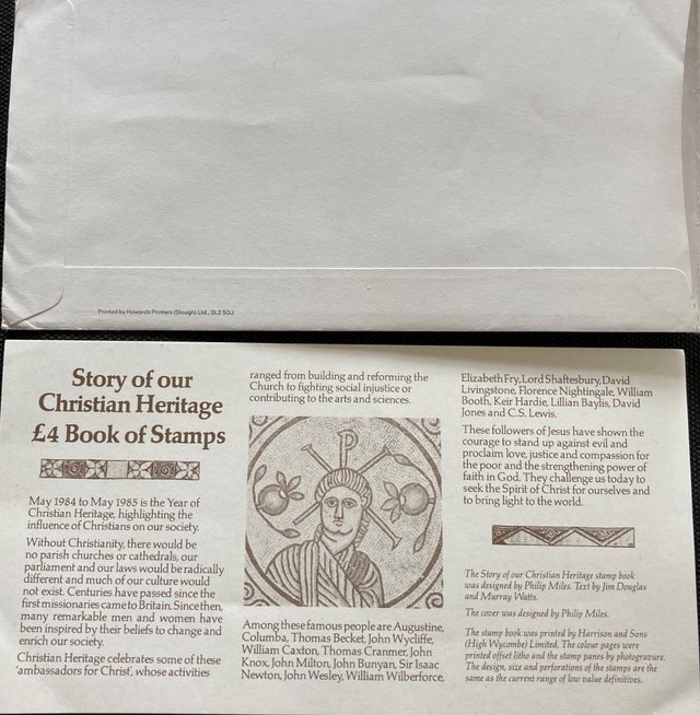 Image 2 of Christian Heritage £4 Book of Stamps First Day Cover