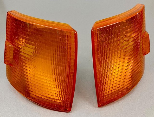 Preview of the first image of VW T4 original VW orange front indicator lenses.