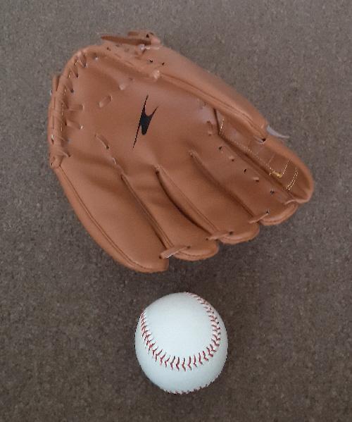 "Image 2 of New Crane Left Handed 12"" Baseball Glove And Ball Set"