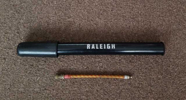 Preview of the first image of Vintage Raleigh Black Bicycle Pump    BX25.