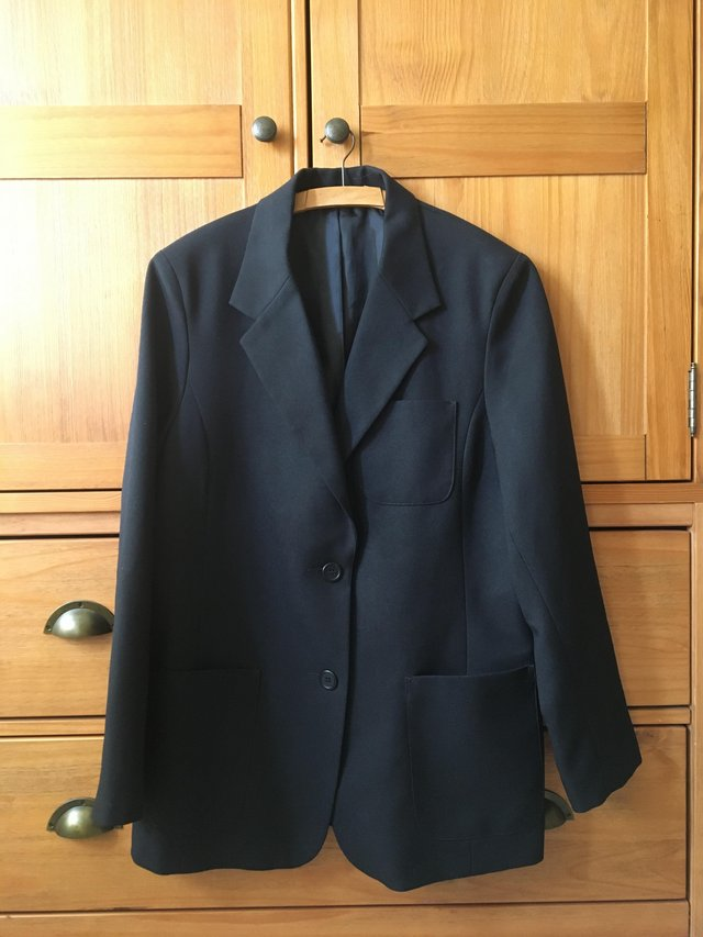 Preview of the first image of GIRLS BLACK SCHOOL BLAZER AGE 12-15 YEARS AS NEW.