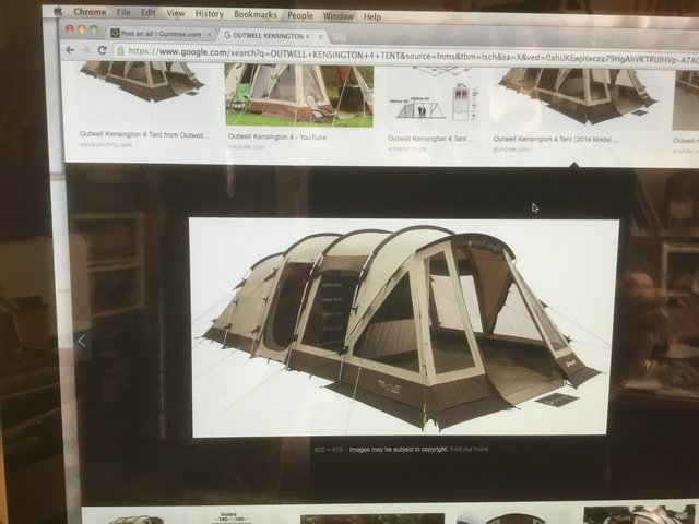 Preview of the first image of Tent 4 berth, barter or sell, never used.