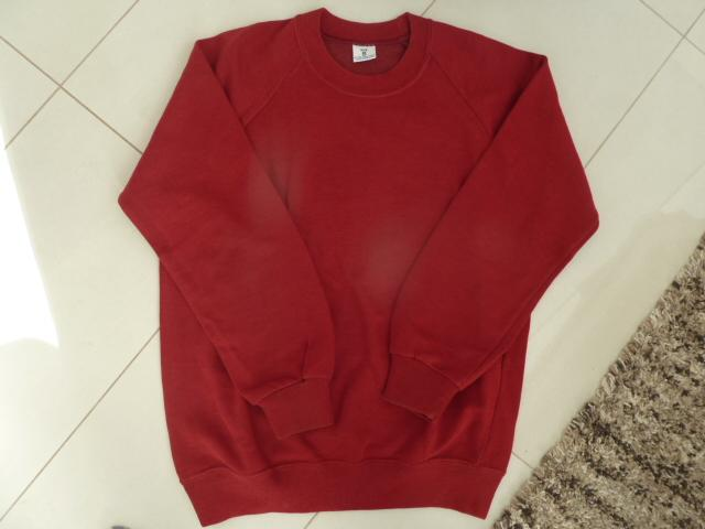 Preview of the first image of Girl's blue aertex p.e. shirt & maroon sweatshirt jumper.