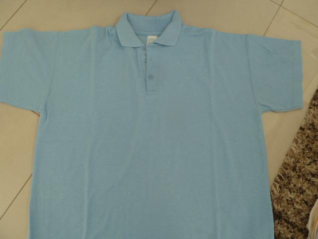 Image 2 of Girl's blue aertex p.e. shirt & maroon sweatshirt jumper