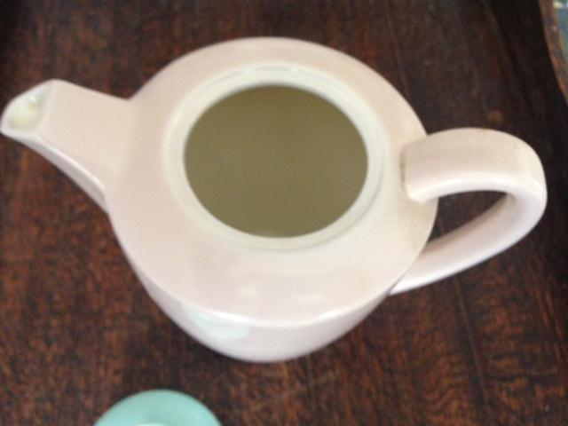 Preview of the first image of Poole Expresso mushroom coffee pot sugar cream jug.