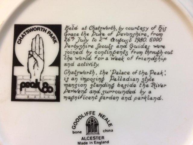 Image 2 of Peak 80 Commemorative Plate - Scout Movement