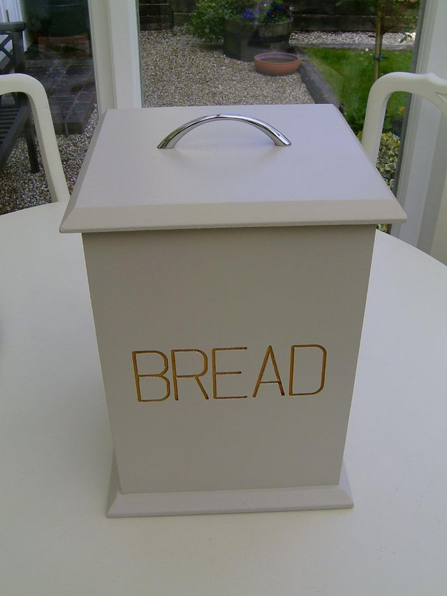 Preview of the first image of Large wooden bread bin.
