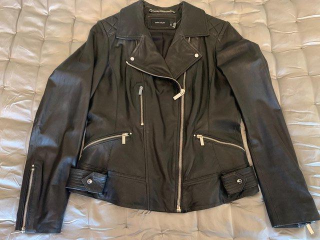 Preview of the first image of KAREN MILLEN Leather Jacket BN Unworn.
