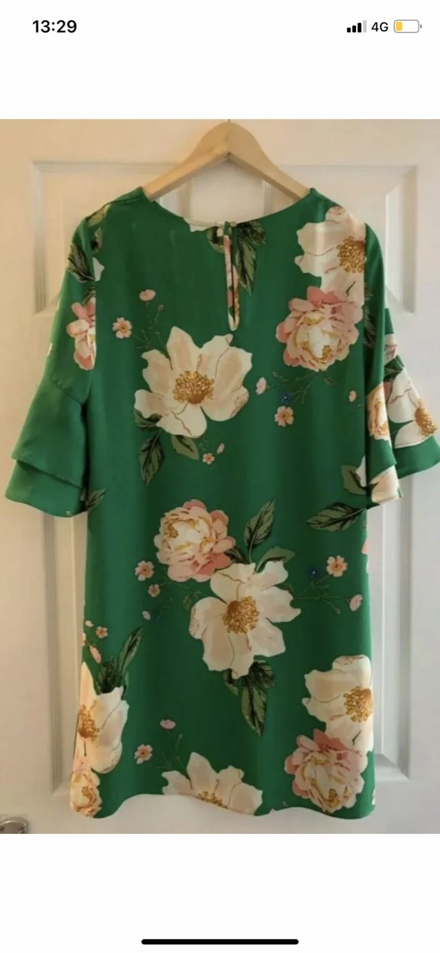 Image 2 of Brand New Green Floral Dress Size 12